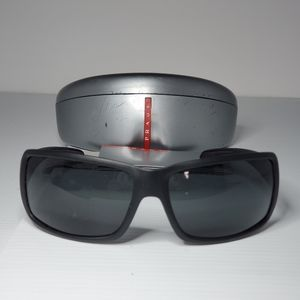 Prada black sport sunglasses men SPS 08G